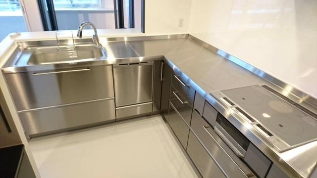 システムキッチン ステンレス キッチン組立施工⑮